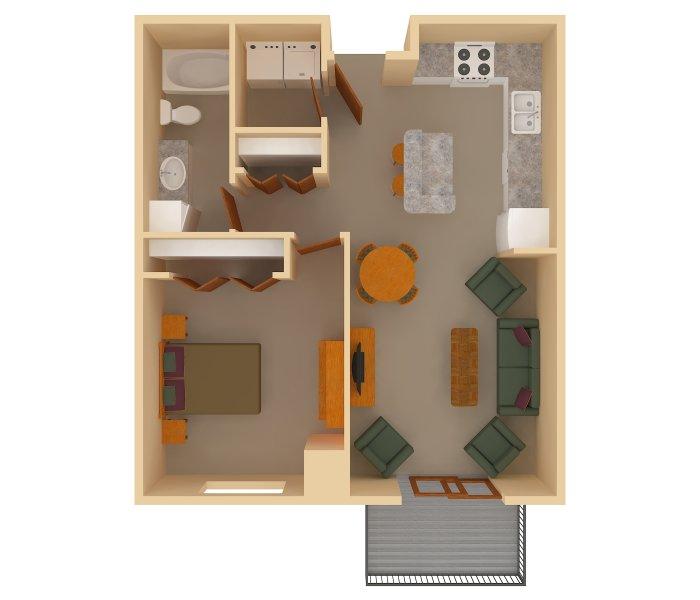 1 Bedrooms - $765-$955