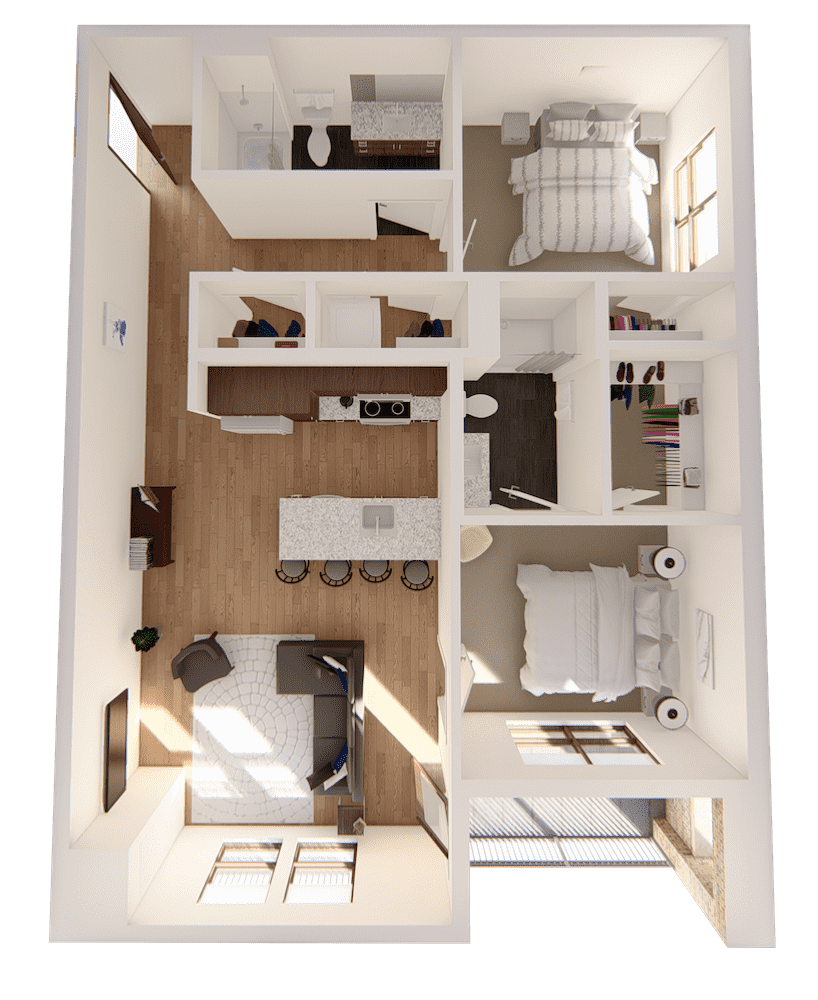 Two Bedrooms - $1500-$2075