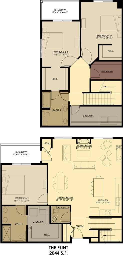 Two Story Penthouse - $1895-$2395