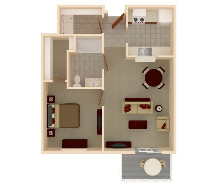 One Bedrooms - $710-$730