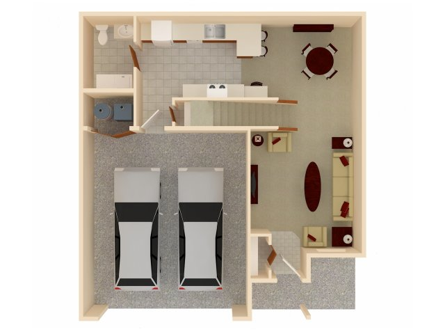 Three Bedrooms - $1190-$1220
