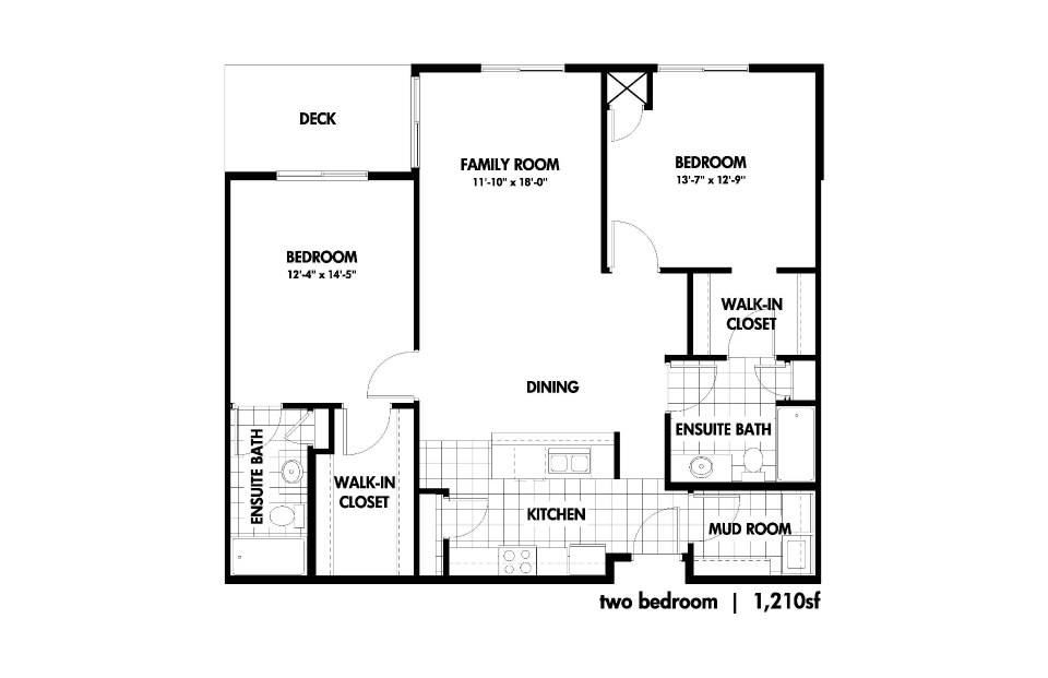 Two Bedrooms - $965-$1295