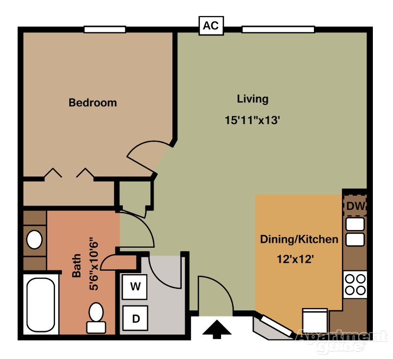 One Bedrooms - $650-$850