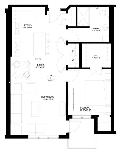 One Bedrooms - $984