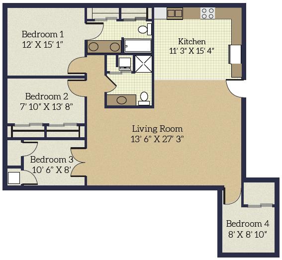 Studios-4 Bedrooms -  $700-$1514