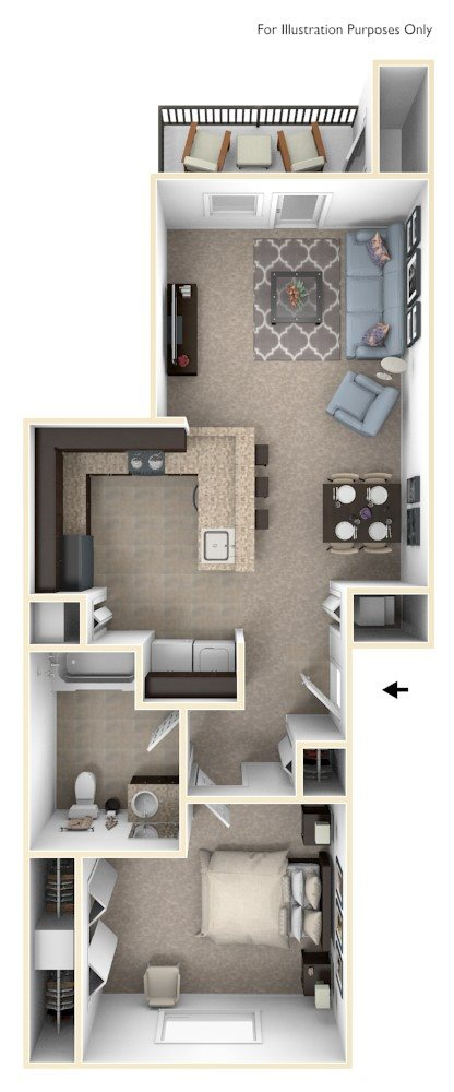 One Bedrooms - $865