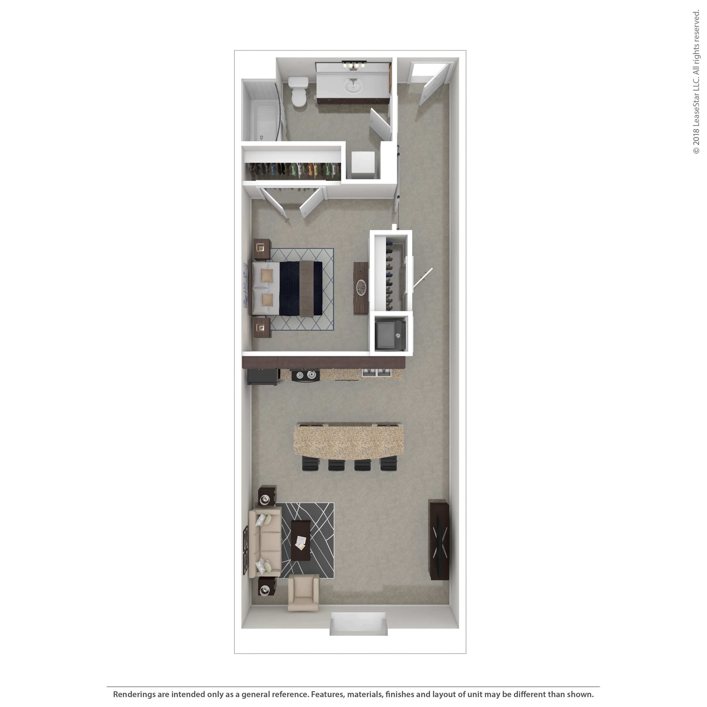 One Bedrooms - $800-$812