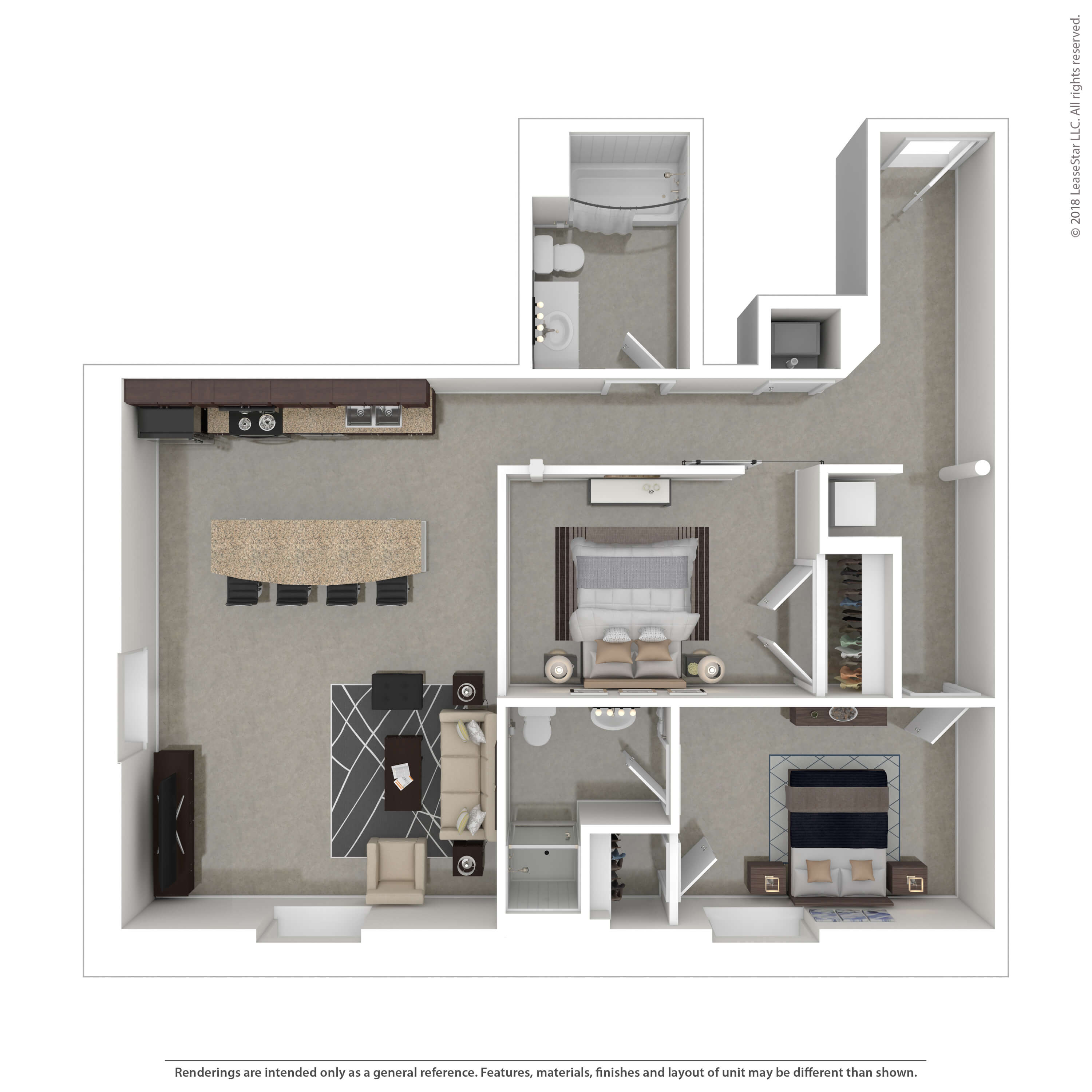 Two Bedrooms - $989