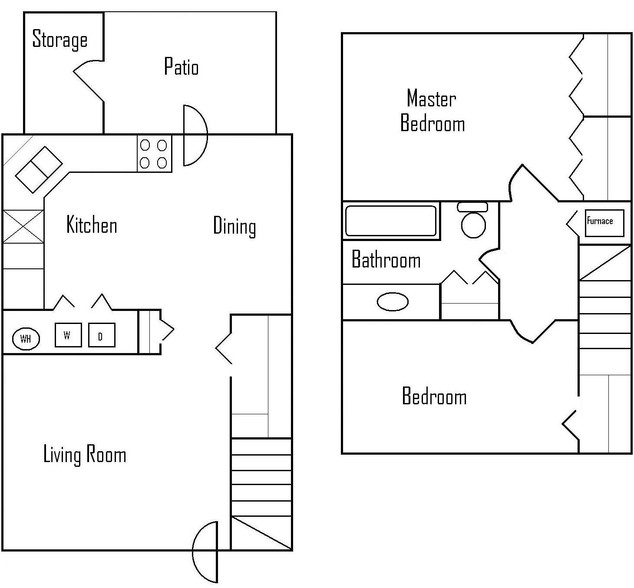 Two Bedroom Townhomes - $889