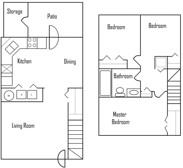 Three Bedroom Townhomes - $989