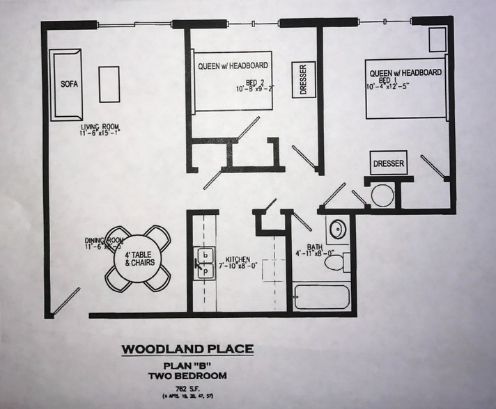 Two Bedrooms - $875-895