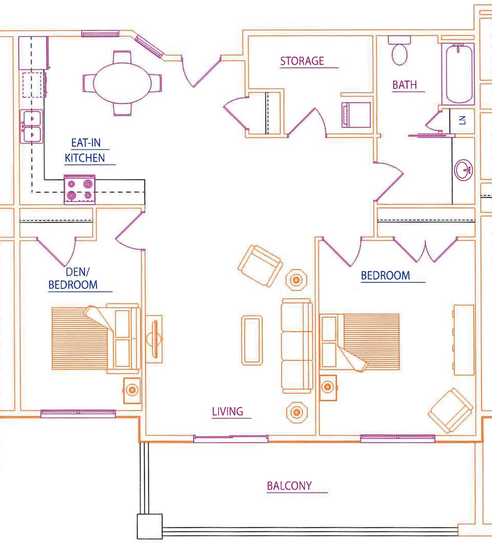 2 Bedroom, 1 Bathroom - $1,795